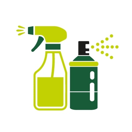 Enhanced cleaning icons