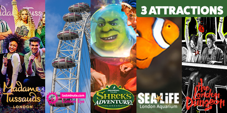 Shrek's Adventure - 3 attractions